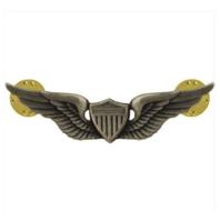 Vanguard ARMY BADGE: AVIATOR - REGULATION SIZE, SILVER OXIDIZED