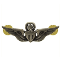 Vanguard ARMY BADGE: MASTER AVIATOR - REGULATION SIZE, SILVER OXIDIZED