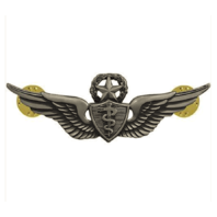Vanguard ARMY BADGE: MASTER FLIGHT SURGEON - REGULATION SIZE, SILVER OXIDIZED