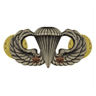 Vanguard ARMY BADGE: COMBAT PARACHUTE SECOND AWARD - SILVER OXIDIZED