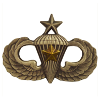 Vanguard ARMY BADGE: SENIOR COMBAT PARACHUTE FIFTH AWARD - SILVER OXIDIZED