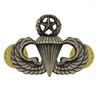 Vanguard ARMY BADGE: MASTER PARACHUTE - REGULATION SIZE, SILVER OXIDIZED