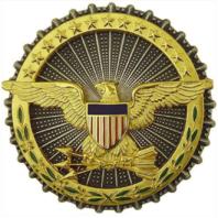 Vanguard ARMY IDENTIFICATION DRESS BADGE: SECRETARY OF DEFENSE OXIDIZED