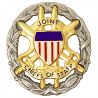 Vanguard IDENTIFICATION DRESS BADGE: JOINT CHIEFS OF STAFF - OXIDIZED