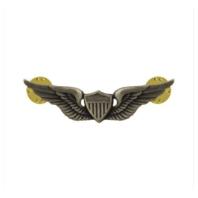 Vanguard ARMY DRESS BADGE: AVIATOR - MINIATURE, SILVER OXIDIZED