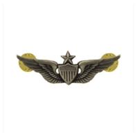 Vanguard ARMY DRESS BADGE: SENIOR AVIATOR - MINIATURE, SILVER OXIDIZED