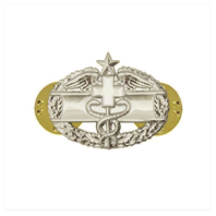 Vanguard ARMY DRESS BADGE: COMBAT MEDICAL SECOND AWARD MINIATURE, MIRROR FINISH