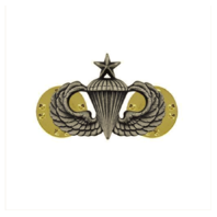 Vanguard ARMY DRESS BADGE: SENIOR PARACHUTE - MINIATURE, SILVER OXIDIZED