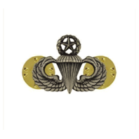 Vanguard ARMY DRESS BADGE: MASTER PARACHUTE - MINIATURE, SILVER OXIDIZED