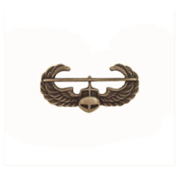 Vanguard ARMY DRESS BADGE: AIR ASSAULT - MINIATURE, SILVER OXIDIZED