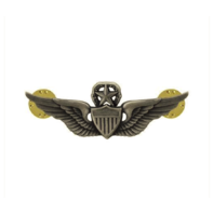 "Vanguard ARMY BADGE: MASTER AVIATOR - 2"" BLOUSE MINIATURE, SILVER OXIDIZED"