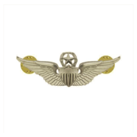 "Vanguard ARMY BADGE: MASTER AVIATOR - 2"" BLOUSE MINIATURE, MIRROR FINISH"