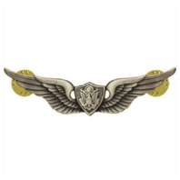 Vanguard ARMY BADGE: AIRCRAFT CREWMAN: AIRCREW - MINIATURE, SILVER OXIDIZED