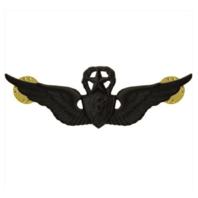 Vanguard ARMY BADGE: MASTER AIRCRAFT CREWMAN: AIRCREW - BLACK METAL