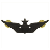 Vanguard ARMY BADGE: SENIOR AVIATOR - REGULATION SIZE, BLACK METAL