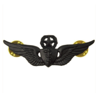 Vanguard ARMY BADGE: MASTER FLIGHT SURGEON - REGULATION SIZE, BLACK METAL