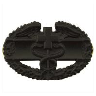 Vanguard ARMY BADGE: COMBAT MEDICAL FIRST AWARD - BLACK METAL
