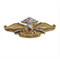 Vanguard Miniature Officer Navy Fleet Marine Force Badge- Gold and Silver