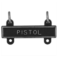 Vanguard US Army Qualification Bar - Pistol - Silver Oxidized Finish