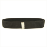 Vanguard NAVY BELT: BLACK NYLON WITH SILVER MIRROR TIP - MALE XL