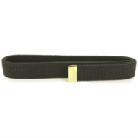 Vanguard NAVY BELT: BLACK COTTON WITH 24K GOLD TIP - FEMALE