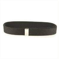 Vanguard NAVY BELT: BLACK NYLON WITH SILVER MIRROR TIP - FEMALE