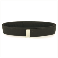 Vanguard NAVY BELT: BLACK POLY-WOOL WITH SILVER MIRROR TIP - FEMALE