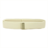 Vanguard NAVY BELT: WHITE CNT WITH SILVER MIRROR TIP - MALE XL