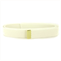 "Vanguard NAVY BELT: WHITE CNT WITH 24K GOLD TIP - MALE XL Approx 55"" cut"