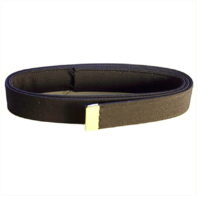 Vanguard NAVY BELT: BLACK POLY-WOOL WITH 24K GOLD TIP - MALE