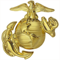 Vanguard MARINE CORPS DRESS CAP DEVICE: ENLISTED