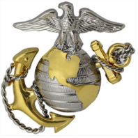 Vanguard MARINE CORPS CAP DEVICE: OFFICER - REGULATION SIZE