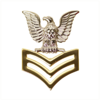 Vanguard NAVY CAP DEVICE: E6 GOOD CONDUCT - SILVER EAGLE WITH GOLD CHEVRONS