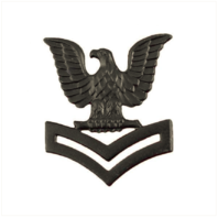 Vanguard NAVY CAP DEVICE: E5 PETTY OFFICER SECOND CLASS - BLACK METAL