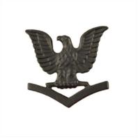Vanguard NAVY CAP DEVICE: E4 PETTY OFFICER THIRD CLASS - BLACK METAL