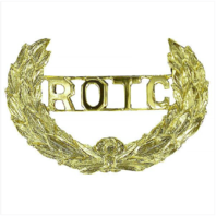 Vanguard ARMY ROTC CAP DEVICE: WREATH WITH ROTC LETTERS CUT-OUT - SCREW BACK
