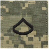 Vanguard ARMY EMBROIDERED ACU RANK INSIGNIA: PRIVATE FIRST CLASS