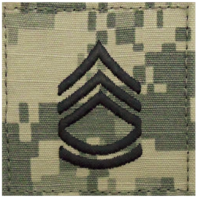 Vanguard ARMY EMBROIDERED ACU WITH HOOK RANK INSIGNIA: SERGEANT FIRST CLASS