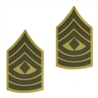 Vanguard MARINE CORPS CHEVRON: FIRST SERGEANT GREEN EMBROIDERED ON KHAKI, FEMALE