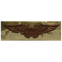 Vanguard NAVY EMBROIDERED BADGE: NAVAL FLIGHT OFFICER - DESERT DIGITAL