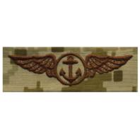 Vanguard NAVY EMBROIDERED BADGE: AVIATION OBSERVER - DESERT DIGITAL