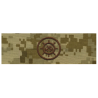 Vanguard NAVY EMBROIDERED BADGE: CRAFTMASTER - DESERT DIGITAL