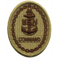 Vanguard NAVY EMBROIDERED BADGE: COMMAND E-8 - DESERT DIGITAL