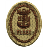 Vanguard NAVY EMBROIDERED BADGE: FLEET E-9 - DESERT DIGITAL