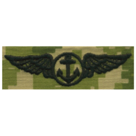 Vanguard NAVY EMBROIDERED BADGE: AVIATION OBSERVER - WOODLAND DIGITAL