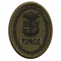 Vanguard NAVY EMBROIDERED BADGE: FORCE E-9 - WOODLAND DIGITAL
