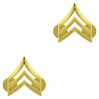 Vanguard ARMY CHEVRON: SERGEANT - 22K GOLD PLATED