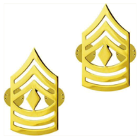 Vanguard ARMY CHEVRON: FIRST SERGEANT - 22K GOLD PLATED