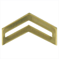 Vanguard ARMY ROTC CHEVRON: CORPORAL - BRASS
