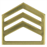 Vanguard ARMY ROTC CHEVRON: STAFF SERGEANT - BRASS